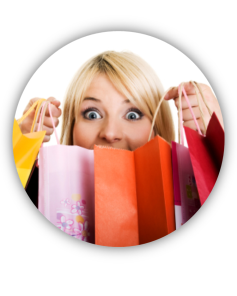Girls love to shop
